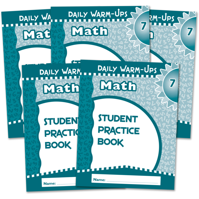 Daily Warm-Ups Student Book 5-Pack: Math Grade 7 - Large Graphic ...