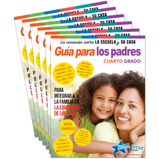 Connecting Home & School Parent Guide Grade 4 6-Pack: Spanish